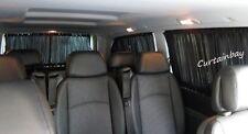 VW T4 Tende per 3 Finestre LATO finestre BAULE PORTIERE PORTELLONE TENDINE Nero