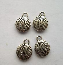 100pcs Tibetan silver alloy ship conch charms pendant 13x10mm