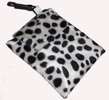 Bebé Leopardo Punto de Juguete de soporte de piel sintética, toallitas, Baberos & Bits n Bobs Bolso Nuevo