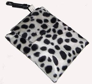 Baby Leopard Spot Faux Fur Dummy Holder - Toy, Wipes, Bibs & Bits n Bobs Bag NEW