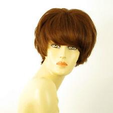 perruque femme 100% cheveux naturel châtain clair cuivré ref BEATRICE 30