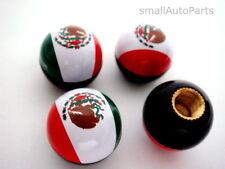 4) Mexican Mexico Flag Ball Tire/Wheel Stem Air Valve CAPS set car truck hot rod