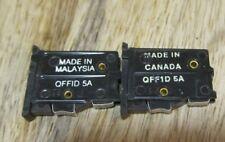 2 X Northern Telecom QFF1D 5A Fuse INDICATING ALARM FUSE Blue