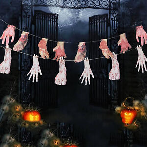 Halloween Fake Body Parts Hand Feet Finger Scary Bloody Props Party Decoration