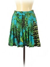2011 VERSACE for H&M Palm Tree Print Pleated A-Line Silk Skirt  - US 4 MINT!