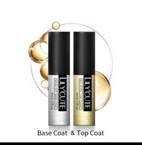 LILYCUTE® Nail Gel Polish UV LED Soak Off Colour Manicure Base No Wipe Top coat