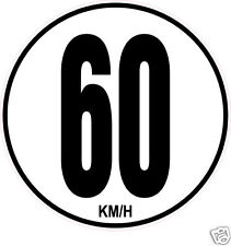 1 Limitation de Vitesse Autocars Tracteur Poids lourd 60KM/H adhésifs
