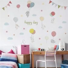 Balloons Rabbits Wall Stickers Decal Nursery kids children baby Removable