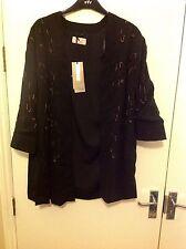 M&S Per Una Premium  Sequin Embroidered Kimono Cardigan Jacket Size: 16