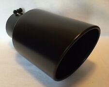 4 Inlet 8 Outlet 15 Long Flat Black Diesel Exhaust Tip Dodge