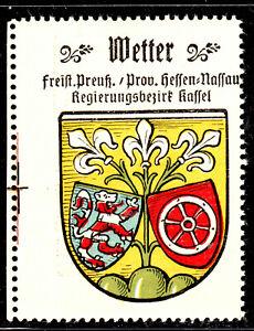 85) Kaffee Hag 1925 Wetter Hessen- Nassau Kassel Reklamemarke Städtewappen