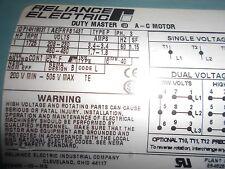 Reliance Electric Motor  P14H1903T  1725rpm  1hp  60hz  3PH