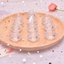 10Pcs/Set 5g Cosmetic Empty Jar Pot Diamond Cream Box Face Cream Container _J