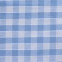"Sky Blue & White 1/4"" Gingham Check Polycotton Fabric *Per Metre*"
