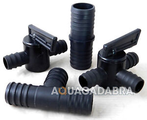 FITTINGS FLEXIBLE FOR FISH POND HOSING PIPE JOINER VALVE CONTROL FLOW HOSE T