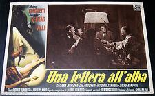 fotobusta originale UNA LETTERA ALL'ALBA Fosco Giachetti Giorgio Bianchi 1948