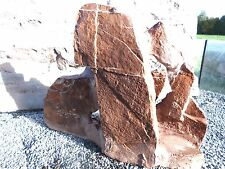 Schiefer Felsen Skulptur rot 28x25x9 cm für Aquarium Deko Dekoration  neu 851