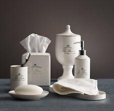 Kassatex Le Bain White 4-Piece Bathroom Accessories Set