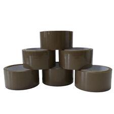6 Rollen Paketklebeband 66m x 48mm braun Klebeband Paketband Kleberolle