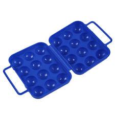 Boite de transport porte-oeufs plastique pliable bleu (pour 12 oeufs) pour Q7A1