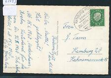 29593) Bahnpost Ovalstempel Hamburg - Husum ZUG 02741a, Karte 1960