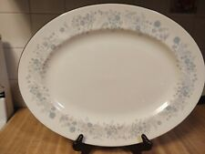 "New ListingWedgwood Bone China Belle Fleur Large Oval Serving Platter 15 3/8"" England"