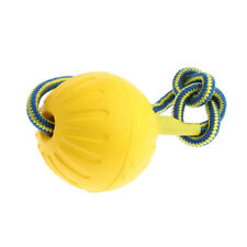 Pet Dog Puppy Ball Toys Pet Dog Training Chew Toys with Rope Yellow M