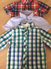 Hemd Junge Kurzarm Langarm Blau grün rot Karo Größe 86-92 WIE NEU 3 Stück