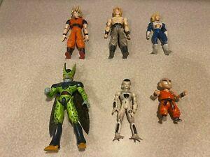 2003 Jakks Pacific Dragon Ball Z Figure Lot Super Saiyan Goku Vegeta Frieza Rare