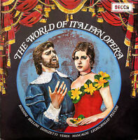 SPA 105 The World Of Italian Opera 1971 Decca Stereo EXCELLENT