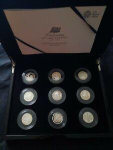 Britannia 25th Anniversary Silver Proof Portrait 9 Coin Collection £1 2012