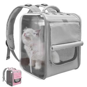 Breathable Cat Backpack Dog Transparent Travel Portable Carrier Shoulders Bag