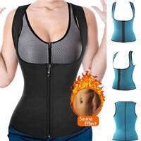 Women's Neoprene Sauna Sweat Waist Trainer Vest Tank Top Weight Loss Body Shaper