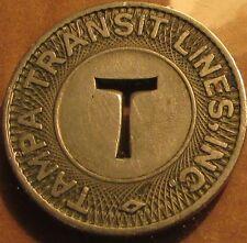 1948 Tampa, FL Transit Lines Inc. Bus Token - Florida Fla.