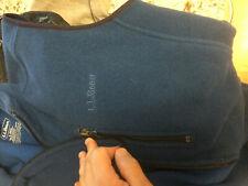 LL L.L. Bean blue fleece  jacket    men's size adult Large  NEW