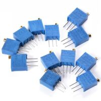 60Pcs 3296W Multiturn Trimmer Potentiometer Kit High Precision Variable Res T9K4
