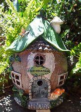 Solar fairy garden cottage - Fairy Dust Merchant - lights up at night