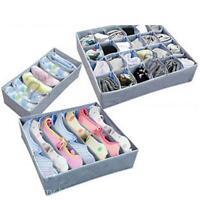 3Pcs/set Bamboo Charcoal Underwear Bra Socks Ties Organizer Storage Bag Box