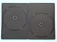 10 x DOUBLE DVD Case Cases 9mm Spine Slim Black Clear Front Cover Sleeve