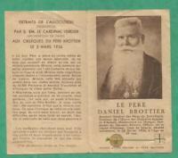 IMAGE PIEUSE   RELIQUE RELIC  PERE DANIEL BROTTIER  AUMONIER WWI  PRIERE