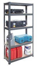 GREY Warehouse Shop Display Garage Boltless Shelving Racking 5 Tier Heavy Duty
