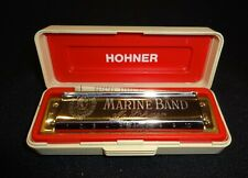 Marine Band Harmonica by M. Hohne No. 1896 Made in Germany w/ Case (Charity)