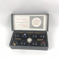Vintage English B & A Banda Indoor Carpet Bowling Ball Game In Original Box