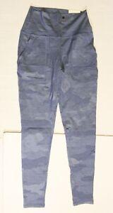 Aerie Women's Chill Stretch Cotton Camo Pocket Legging SV3 Blue Small