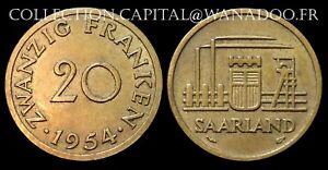 Sarre Française 1954 Zwanzig Franken