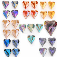 22x18mm Faceted Crystal Glass  Heart Spacer Beads DIY Jewelry Accessories(5pcs)