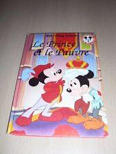 """DISNEY MICKEY CLUB DU LIVRE """"Le prince et le pauvre""""."""