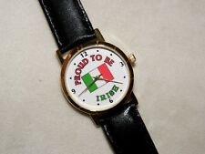 """PROUD TO BE IRISH"" WATCH ST PATRICKS DAY PARADE CHRISTMAS GIFT LEATHER BAND NEW"