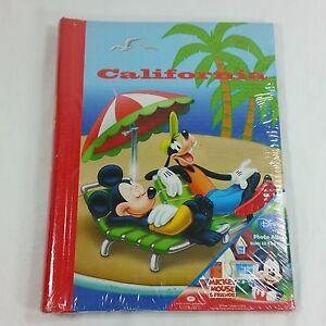 Disney California Beach Photo Album 4x6 Holds 32 Pictures Mickey Mouse Goofy
