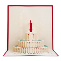 3D Up-Grußkarte Handgemachte Alles Gute zum Geburtstag Valentinstag Ostern G5V7